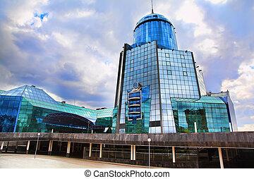 moderne, bâtiment verre