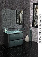 moderne, badeværelse