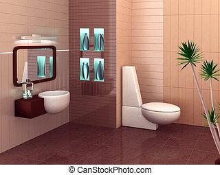 moderne, badkamer