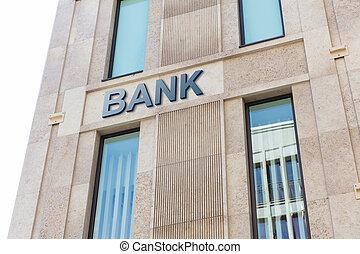 moderne, bank, gebouw