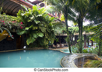 moderne, barre, wimming, piscine