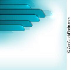 moderne, blå, brochure