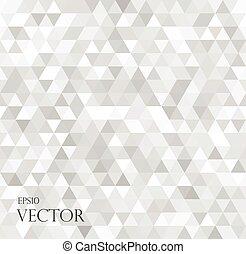 moderne, blanc, résumé, fond, à, triangles