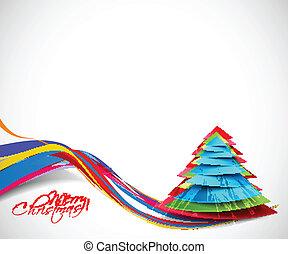 moderne, boompje, kerstmis, achtergrond