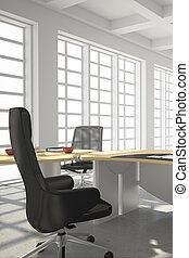 moderne, bureau, grenier, style