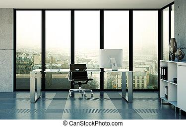 Intérieur maison moderne bureau bureau moderne