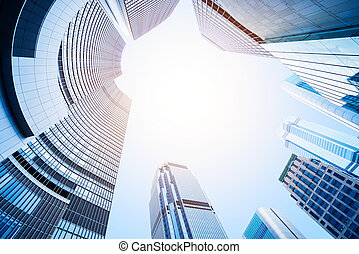 moderne, centre, business