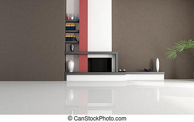 moderne, cheminée