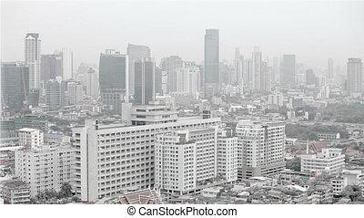 moderne, city., au-dessus, vue