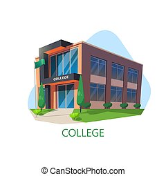 moderne, collège, architecture, education, bâtiment.