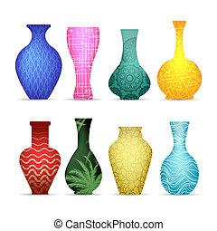 moderne, collection, vases