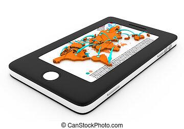 moderne, communication, technologie, intelligent, téléphone, réseau