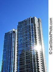 moderne, complexe, condominium
