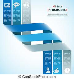 moderne, conception, gabarit, boîte, être, utilisé, pour, infographics