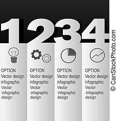 moderne, conception, minimal, style, infographic, gabarit