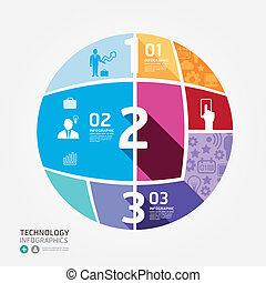 moderne, conception, minimal, style, infographic, template., boîte, être, utilisé, pour, infographics, .graphic, ou, site web, disposition, vecteur