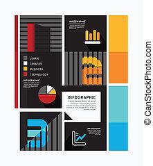 moderne, conception, minimal, style, infographic, template.can, être, utilisé, pour, infographics, .graphic, ou, site web, disposition, vecteur