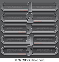 moderne, conception, nombres, gabarit, infographics