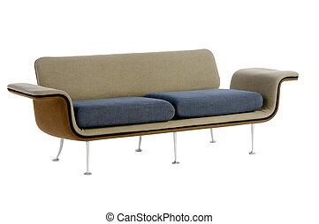 moderne, conception, sofa
