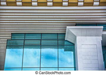 moderne, détail, architectural, wall.