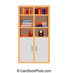 moderne, dessin animé, meubles