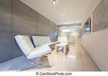 moderne, dessin, salle