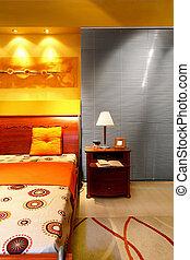 moderne, detail, bed