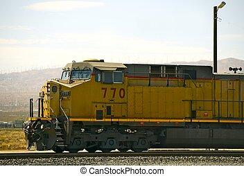 moderne, diesel, locomotief