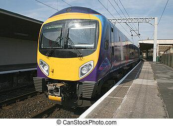 moderne, diesel, train