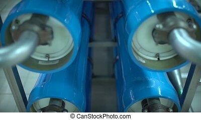 moderne, eau, ligne., production, traitement, automatisé, plant.