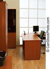 moderne, et, lumière, bureau