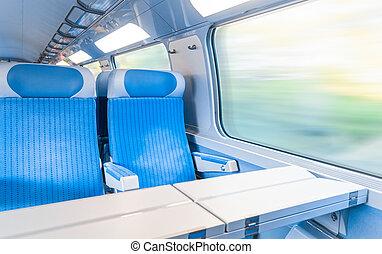 moderne, exprès, train.