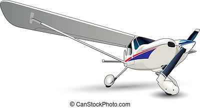 moderne, flyvemaskine