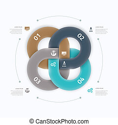 moderne, frais, infographic, option, elem