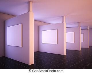 moderne, galerie, art.