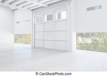 moderne, galerie, intérieur