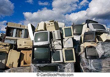 moderne, gaspillage, électronique