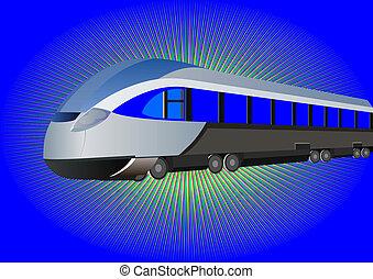 moderne, high-speed tog