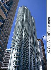 moderne, highrise, bâtiment