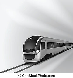 moderne, hoge snelheid trein, 2