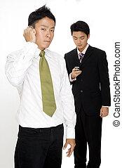moderne, hommes affaires