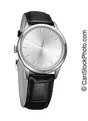 moderne, horloge, vrijstaand, op, een, witte