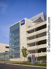 moderne, hospitalet, og, nødsituation underskriv