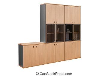 moderne, houten, boekenkast