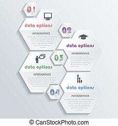 moderne, illustration, numbers., vecteur, conception, infographics