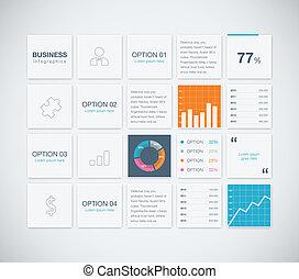 moderne, infographic, business, vecteur