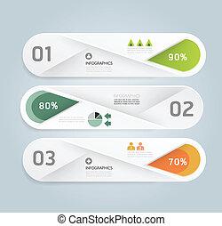 moderne, infographic, ontwerp, stijl, opmaak, alfabet, /, mal, infographics, cutout, minimaal, website, zijn, gebruikt, horizontaal, genummerde, grafisch, lijnen, vector, groenteblik, banieren, of