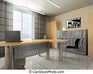 Moderne classique bureau interior appartement vieux