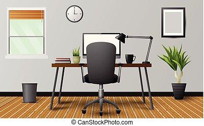 moderne, intérieur bureau