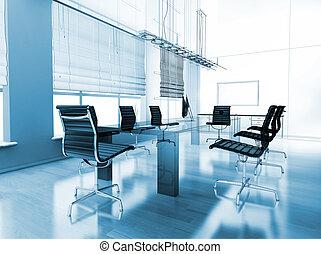 moderne, intérieur, de, bureau